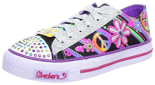 Skechers Shuffles Clitter - Zapatillas de lona para niña: Amazon.es: Zapatos y complementos