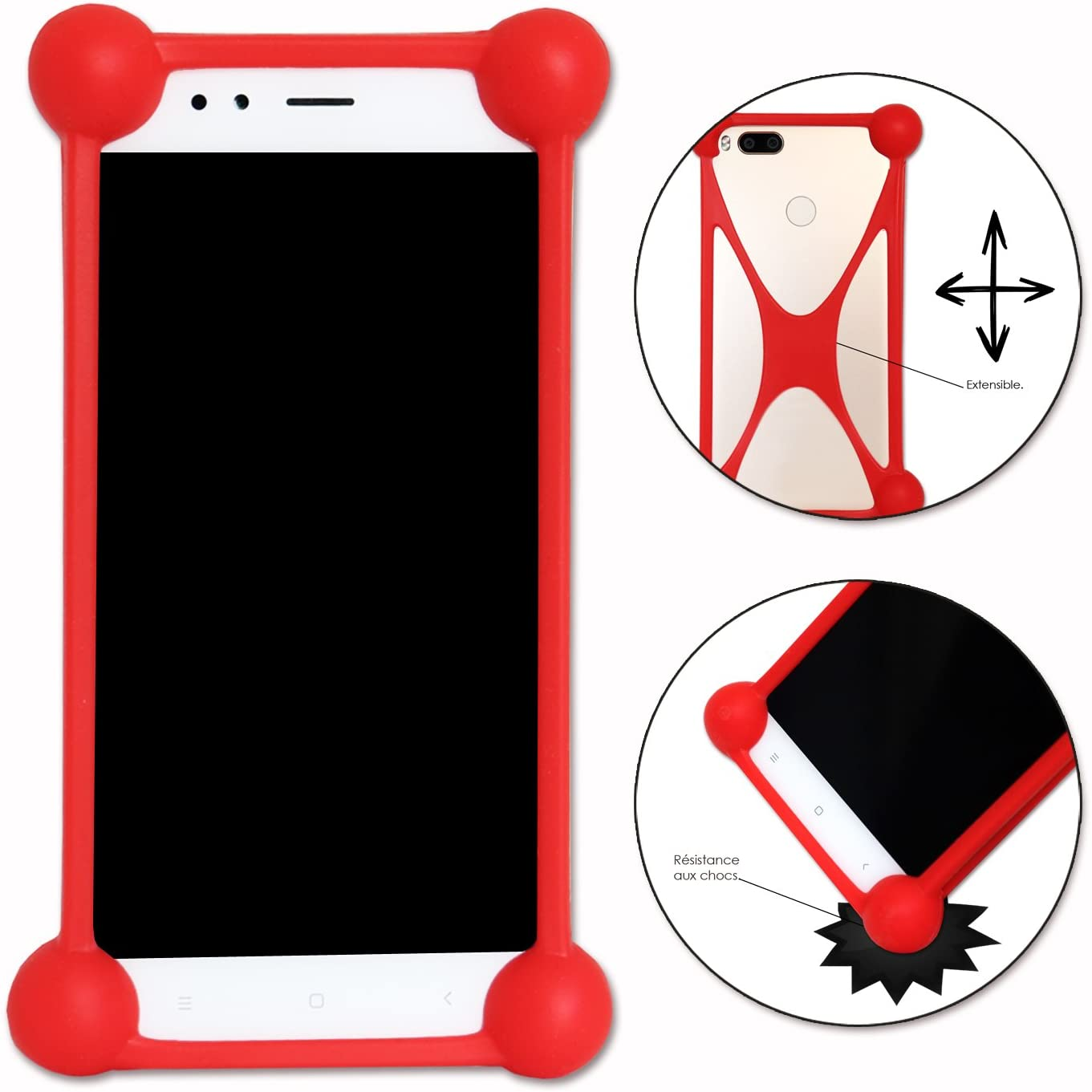 Shockproof Silicone Bumper Case for Acer Liquid Jade Primo PC Red