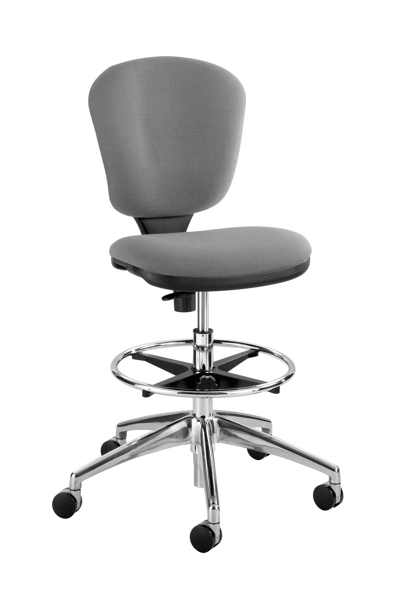 Safco Products Metro Extended Height Chair 3442GR, Ergonomic, Pneumatic Height Adjustable, Heavily Padded