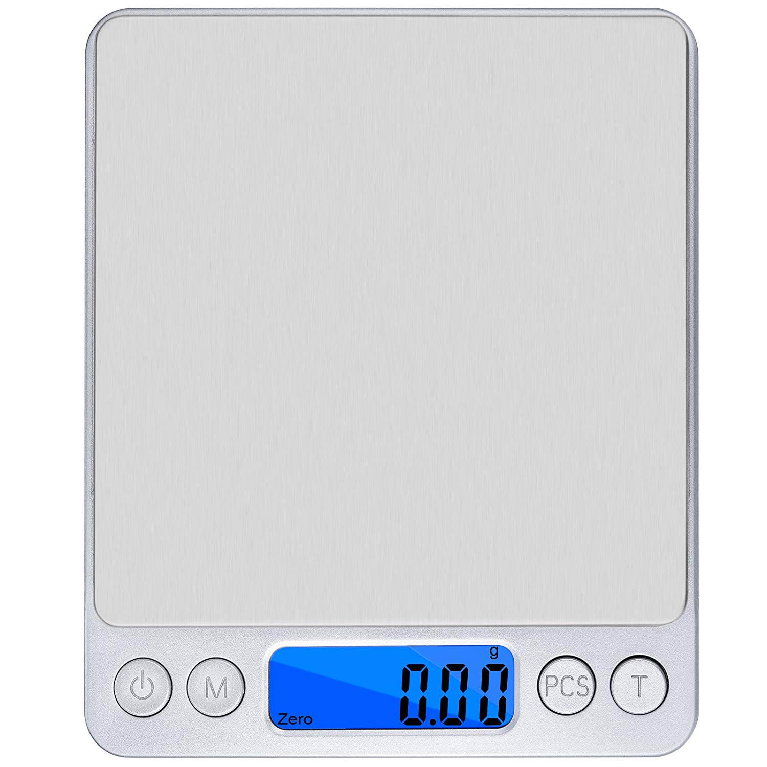 Postecks 500g x 0.01g Precison Kitchen Scale with Trae Funtion and LCD Blue Backlight, Pro Digital Kitchen Scales Smart Weigh for Weigh Foods, Powder, Fine Items, Jewellery Etc
