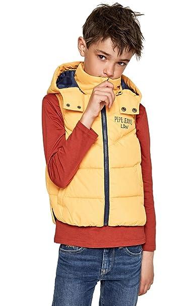 53e7ce11a068a Pepe Jeans CHALECO MALCOM JR - CHALECO NIÑO (16 AÑOS)  Amazon.es ...