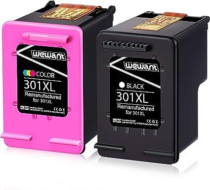 Wewant Remanufacturado HP 301 301XL Cartucho de tinta (Negro ...