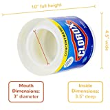 Clorox Jumbo 64 oz Large Diversion Safe Stash Can w HumanFriendly Smell-Proof Bag