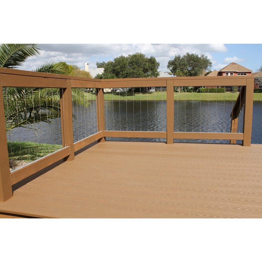 Dolle insta rail vertical cable railing insert kit 36h amazon com