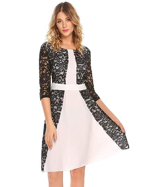 9e50828344c0 Vestidos De Invierno para Mujer Vestido De Encaje Noche De Ropa ...