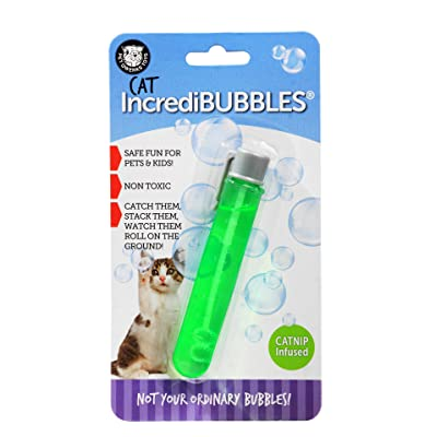 Pet Qwerks Kitty Incredibubbles Catnip Flavor - Long Lasting Bubbles with Non-Toxic Formula for Cats, Avoids Boredom & Keeps Cats Active | Best for Outdoor Use, BUB2, Purple, 1 : Pet Toys : Pet Supplies