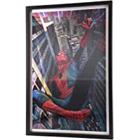 Open Road Brands- Vintage Retro Style Spiderman Poster for Walls Framed