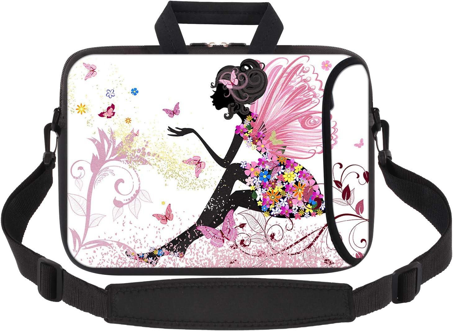 iCasso Laptop Sleeve 11.6-12.1 Inch Stylish Soft Neoprene Sleeve Case Cover Handbag for MacBook Air 11,MacBook Retina 12 Inch/iPad Pro/Ultrabook Netbook Tablet (Butterfly Girl)