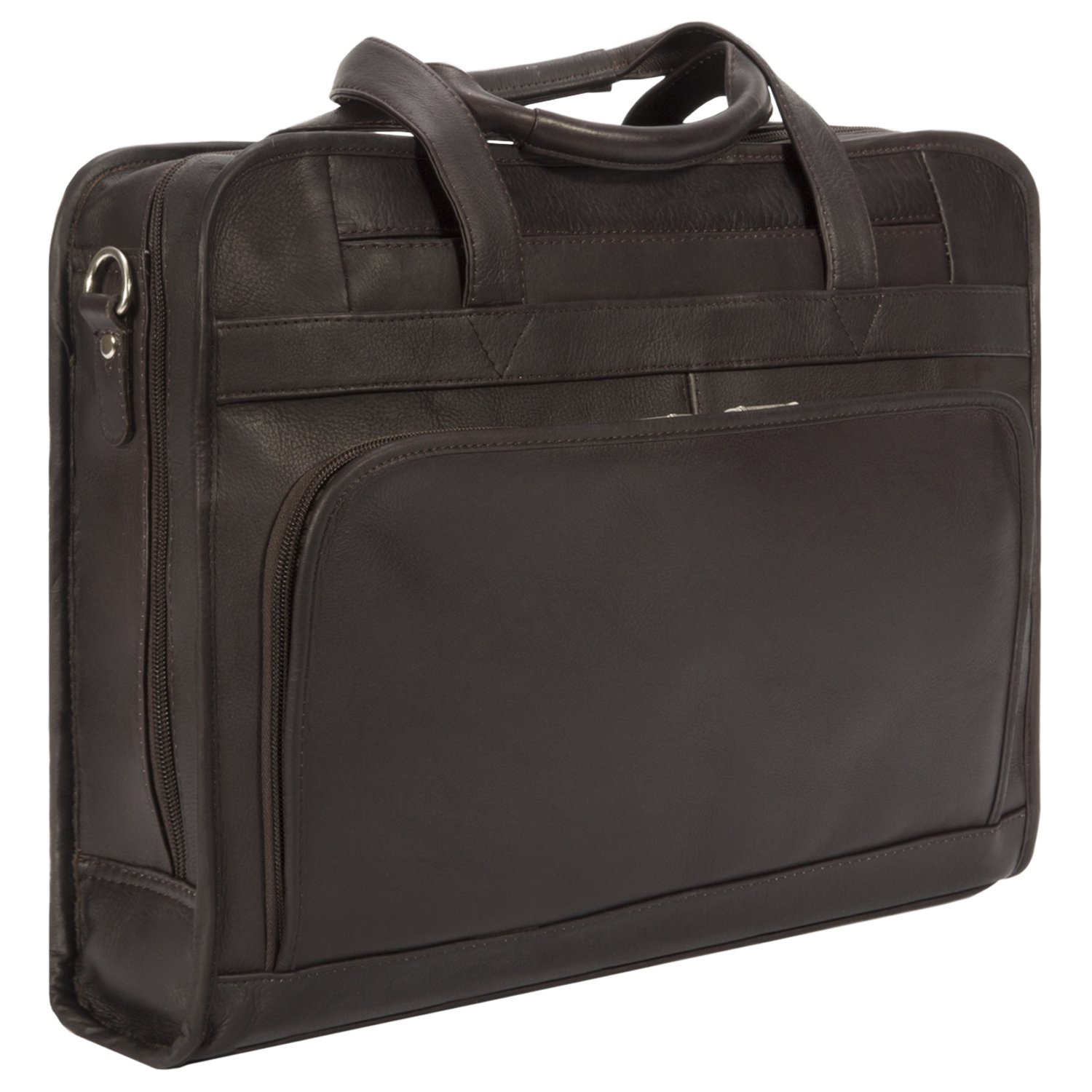Leather Briefcase -Lisbon- by Muiska | Leather Laptop Case Computer Bag Classic Style Modern Functionality in Three Colors by Muiska