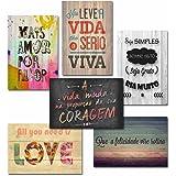 Kit Com 6 Placas Em Mdf - Frases Motivacionais - R+ Adesivos