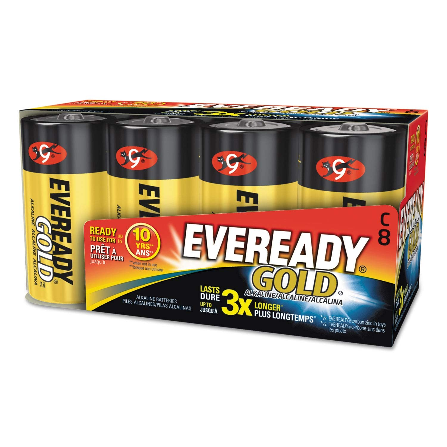 Eveready Gold Alkaline Batteries, C, 8 /Pk - A93-8 Pack of 2