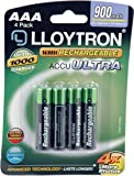 Lloytron AAA 900 mAh NIMH AccuUltra Battery (Pack of 4)