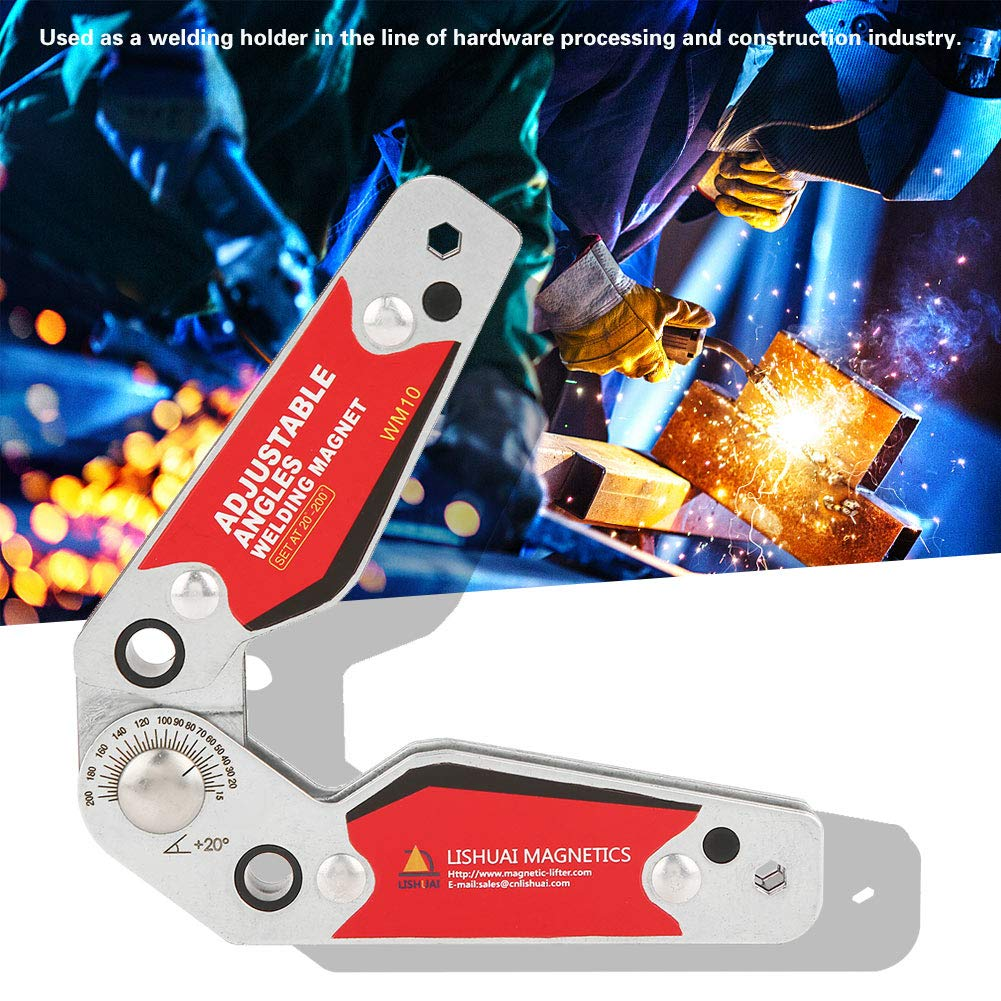 FTVOGUE 20/°-200/° Adjustable Angles Welding Strong Magnetic Welding Holder Welder Tool Accessories for Soldering Positioning