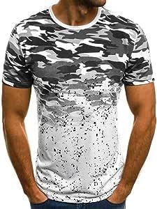 AG&T Top de Camuflaje para Hombre Cremallera de Malla con Capucha Delgada Sudadera sin Mangas Camisa Manga Corta Camiseta de Tirantes Estilo Militar de Camuflaje Verano Camisa: Amazon.es: Deportes y aire libre