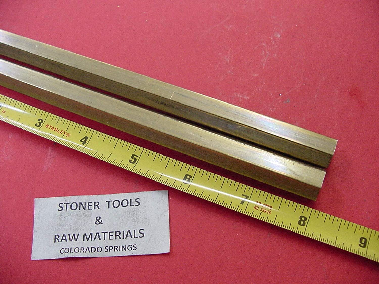 "1//2/"" C360 BRASS HEX BAR .5/""  inch hex flat to flat 1.5/"" long"