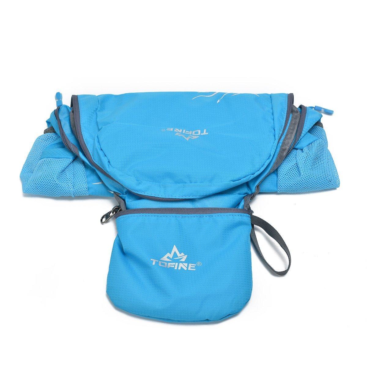 Tofine Packable Backpack Waterproof Hiking Daypack Womens Light Blue 15L