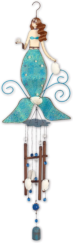 Sunset Vista Design Studios Beach Collection Wind Chime, Splash Mermaid
