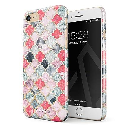 Amazon.com: burga iPhone 7 Caso, pastel Ilusión de Marruecos ...
