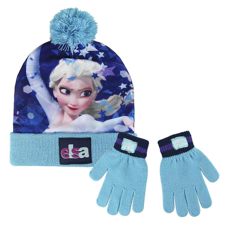 Cerdá Frozen, Set de Bufanda, Gorro y Guantes para Niñas, Multicolor (Azul), 3 años (Tamaño del fabricante:m)