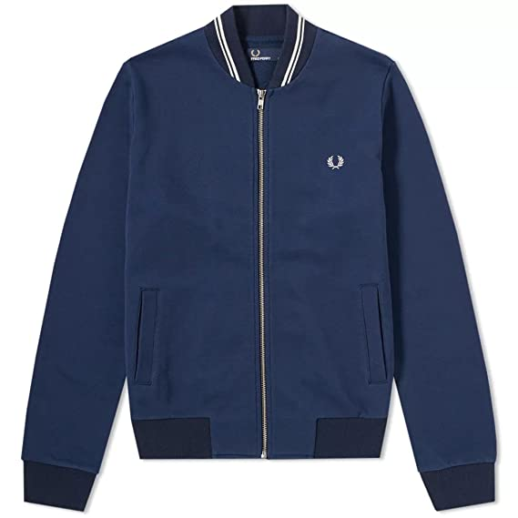 Fred Perry Bomber Neck Sweat, Chaqueta deportiva - L: Amazon.es: Ropa y accesorios
