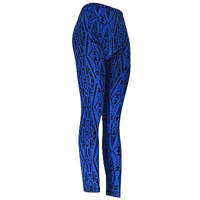 """""""Blue Tribal"""" Ladies Footless Printed Leggings"""