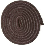 "Self-Stick Heavy Duty Felt Strip Roll for Hard Surfaces (1/2"" x 60""), Walnut Brown"