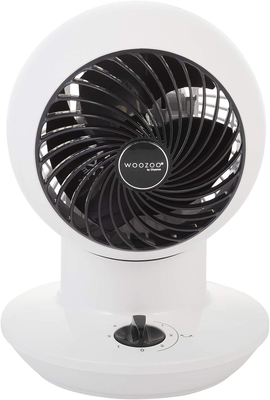 21 x 21 x 29 cm plastique Blanc Avec t/él/écommande Iris Ohyama SC15T White Ventilateur silencieux avec minuteur oscillation-Woozoo PCF-SC15T Blanc-30 m/²