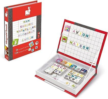 Janod - Magnetibook con Alfabeto en francés, Libro magnético (J05543): Amazon.es: Juguetes y juegos