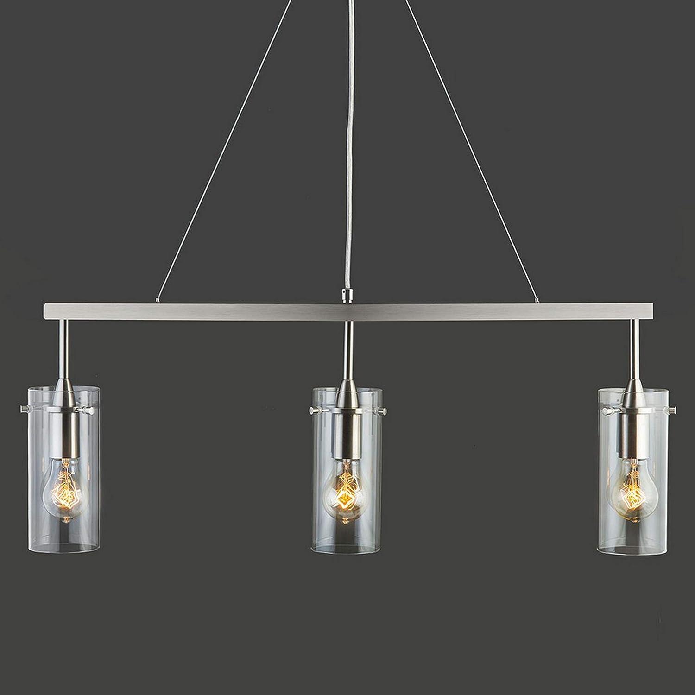 Brushed Nickel Linea di Liara LL-P331-BN Effimero 3 Light Kitchen Island Hanging Fixture