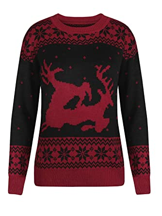 51663518b3a Chuanqi Womens Ugly Christmas Sweaters Oversized Casual Crewneck ...