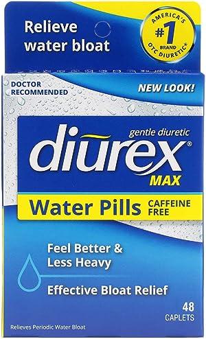 Diurex Max - Maximum Strength Caffeine-Free Diuretic Water Pills - Feel Better and Less Heavy