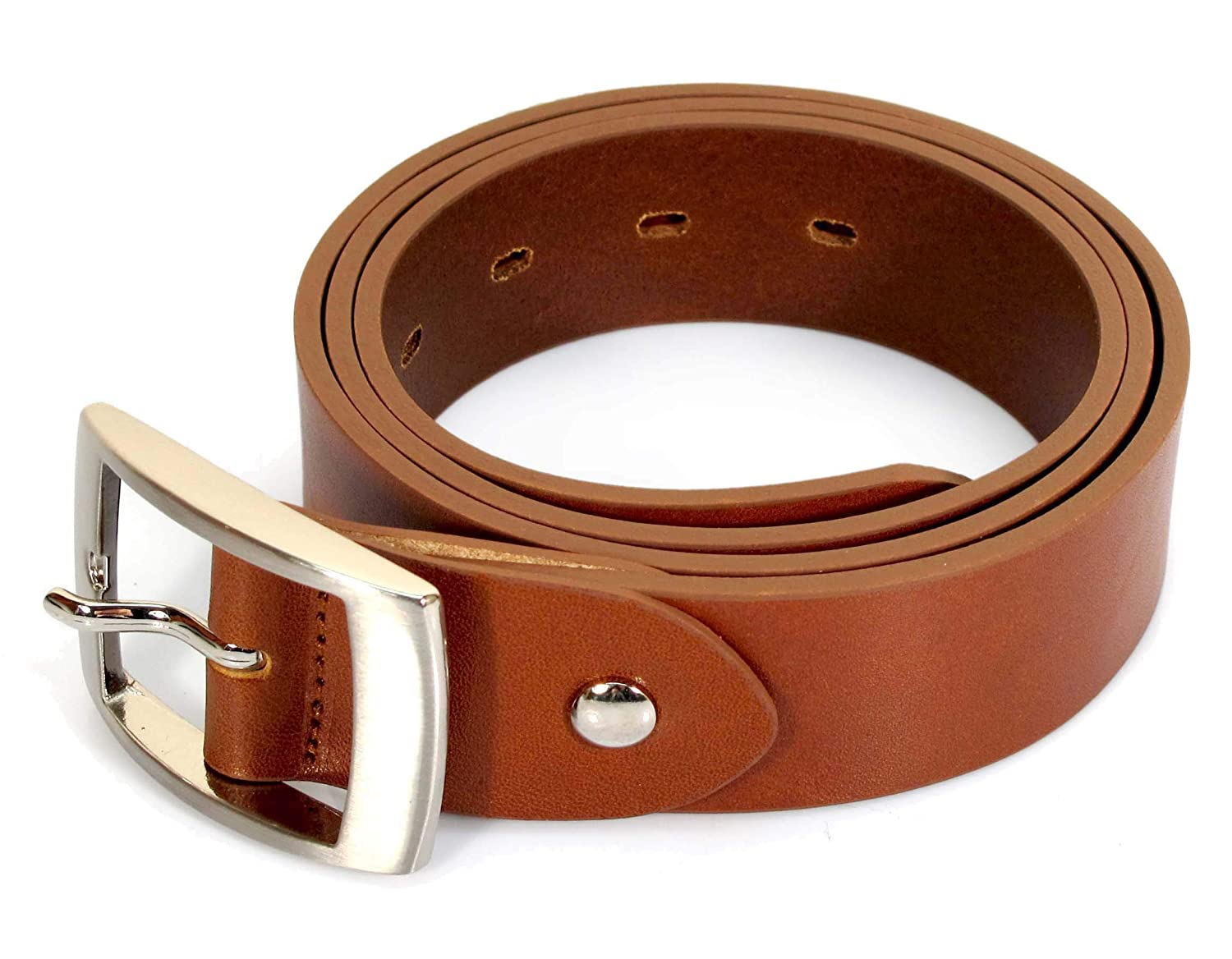 UM7 Mens Real Genuine Leather Tan Brown Belt 1.25 Wide S-XL Thick Casual Jeans