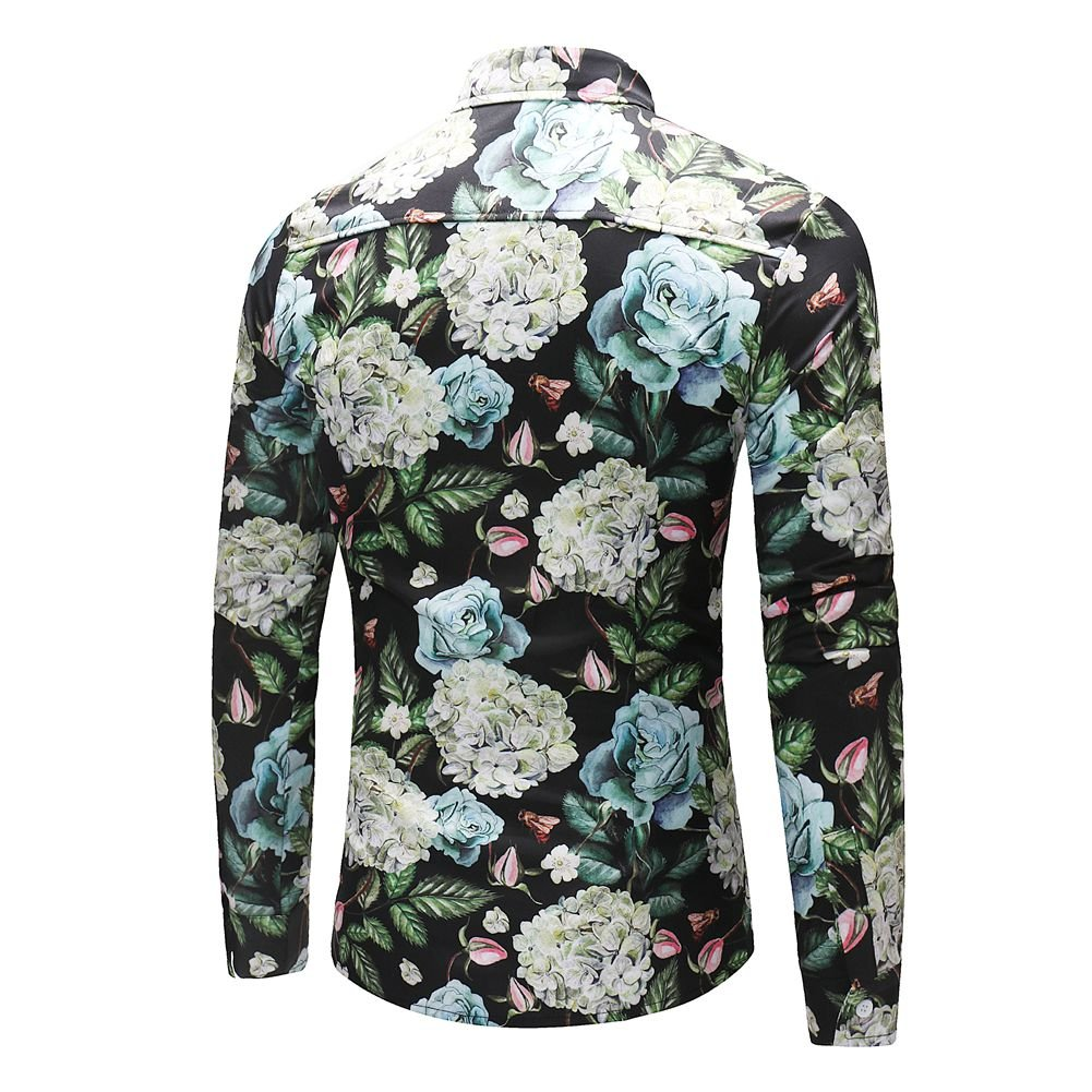 MYMSTORM Men Shirts allover Printed Fashion Style Spring Men's Button Down Shirt (L, CS37) by MYMSTORM (Image #4)