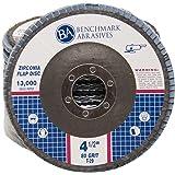 "4.5"" x 7/8"" Premium Zirconia Flap Disc Grinding Wheel 80 Grit Type 29-10 Pack"