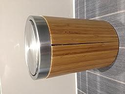 les lamelles de bambou qui font le tour de la poubelle ce sont dj dcolles sur toute la hauteur pour une petite poubelle plus de 40 euros cest