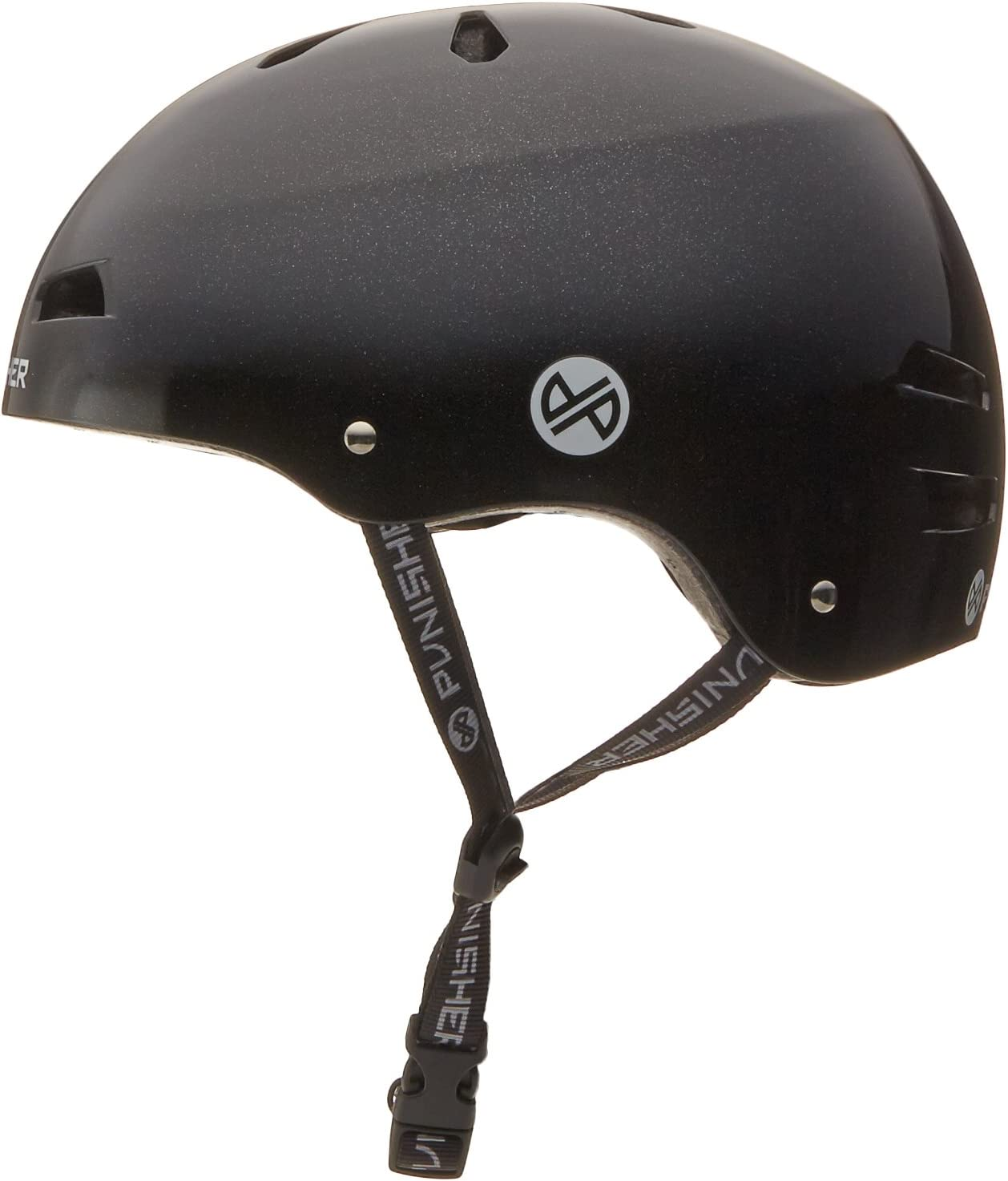 Youth//Teen 9+ Punisher Skateboards Pro Series 13-Vent Dual Safety Certified BMX Bike and Skateboard Helmet