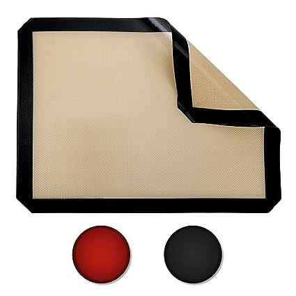 Belmalia Plancha de Silicona para bandejas de Horno, Papel de Horno, Fibra de Vidrio
