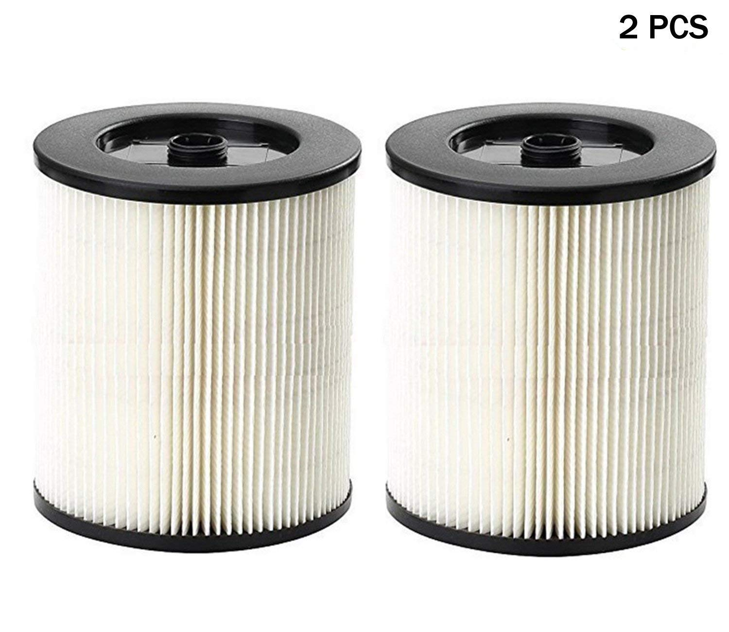 HIFROM Replacement Filter Fit Shop Vac Craftsman 9-17816 Wet Dry Vacuum Air Cartridge Filter (2 Pcs)