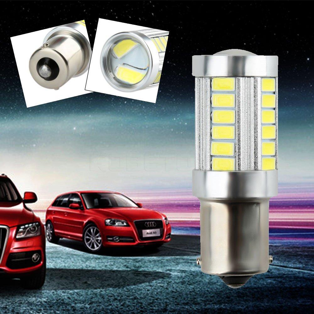 Daphot Store - P21W 1156 BA15S for 33 LED 5630 5730 SMD car Backup Reserve Lights auto light fog lamps 2pcs