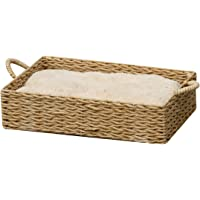 Box Paper Rope Bed w/Pillow - PetPals Paper Rope Box Bed