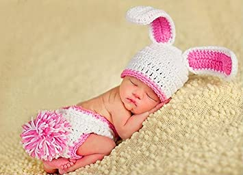 Babys Easter Bunny Rabbit Crocheted/Knitted Costume Photo ...