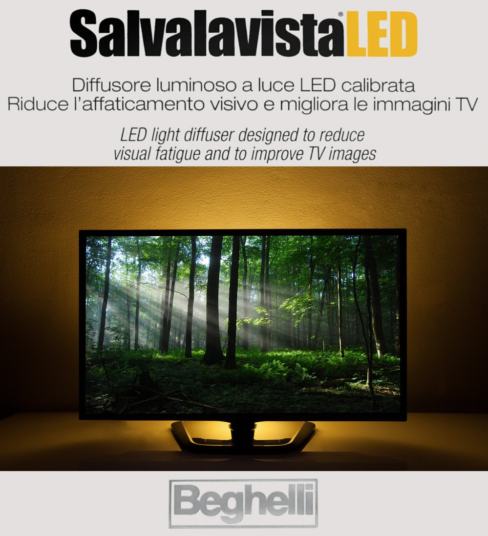 Beghelli - Luz trasera LED para televisión, para proteger los...