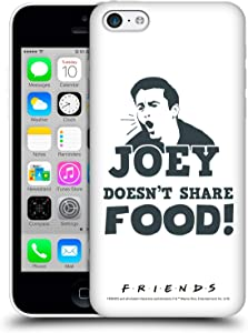 Head Case Designs Officially Licensed Friends TV Show Joey Food Quotes Hard Back Case Compatible with Apple iPhone 5c