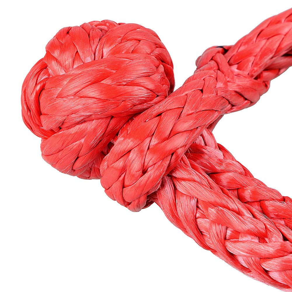 Astra Depots Safety Recovery Dampener /& 2PCS Red 1//2 Soft Shackle Rope Synthetic with Protective Sleeve for Truck ATV UTV 4X4 UHMWPE Synthetic Winch Rope Cable