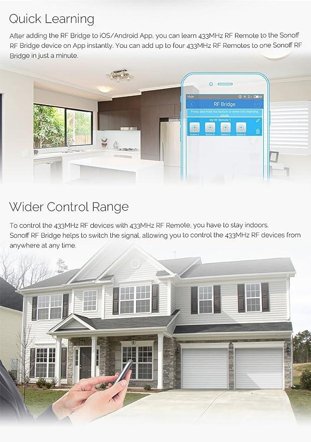 Aihasd Sonoff PIR2 PIR Inalámbrico Doble Sensor Humano infrarrojo para Smart Home Automatización Seguridad Alarma Sistema: Amazon.es: Electrónica