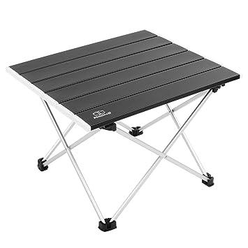 Amazon.com: MSSOHKAN Mesa plegable de aluminio portátil ...
