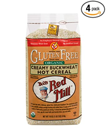 Bobs Red Mill Organic Gluten Free Creamy Buckwheat Hot Cereal, 18-ounce (Pack of 4)