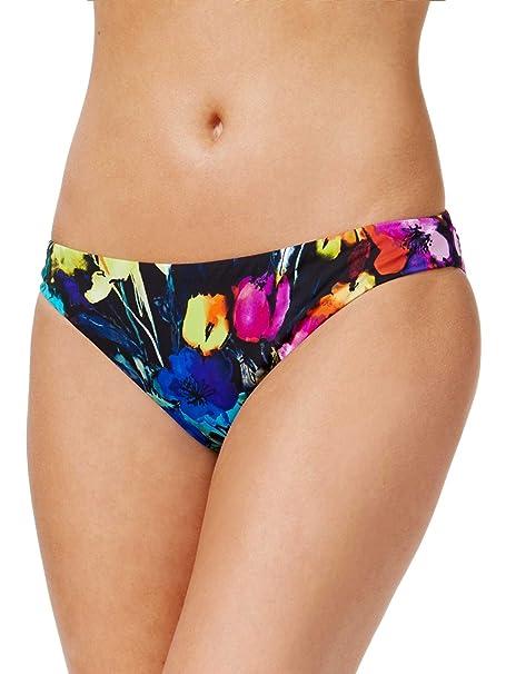 31be29bd21744 Bar III Women s Painted Posies Floral-Print Cheeky Bikini Bottoms (Black  Multi