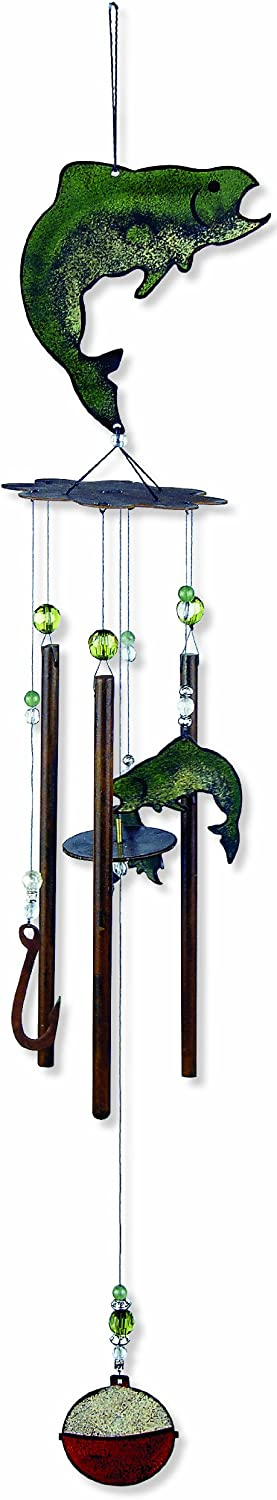Sunset Vista Catch Of The Day Fish Wind Chime, 28-Inch Long