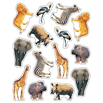 Carson Dellosa Wild Animals of The Serengeti Shape Stickers (168000): Carson-Dellosa Publishing: Office Products